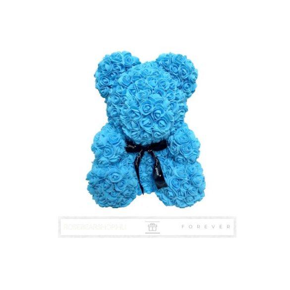 Rose Bear - Kék színű virág maci/ masnival / 3D rózsa / díszdoboz