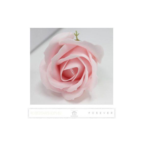 Luxus illatos piros és rózsaszín szappan rózsák, 9 darab egy átlátszó dobozban