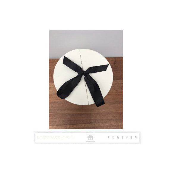 Luxus illatos nagy méretű fehér színű szappan rózsák, 16 darab egy kör alakú nyitható díszdobozban