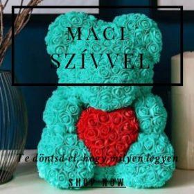 Rose bear maci szívvel